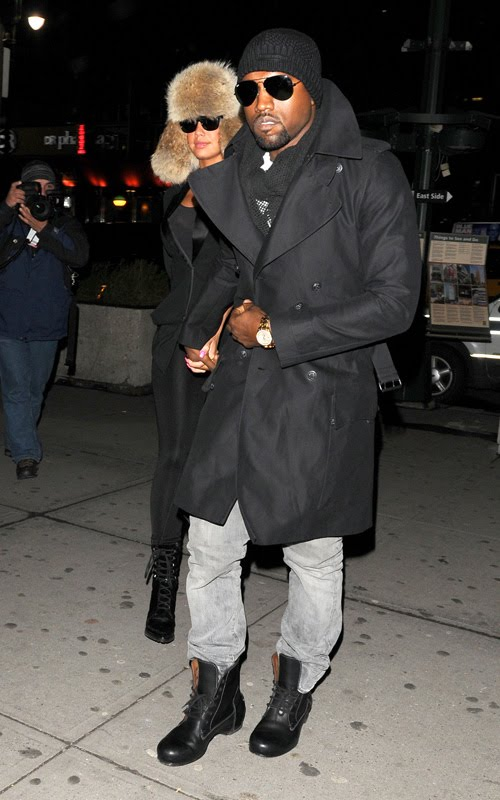 ray ban mens sunglasses boots  spotted: kanye west in ray ban sunglasses and lanvin leather lace up boots